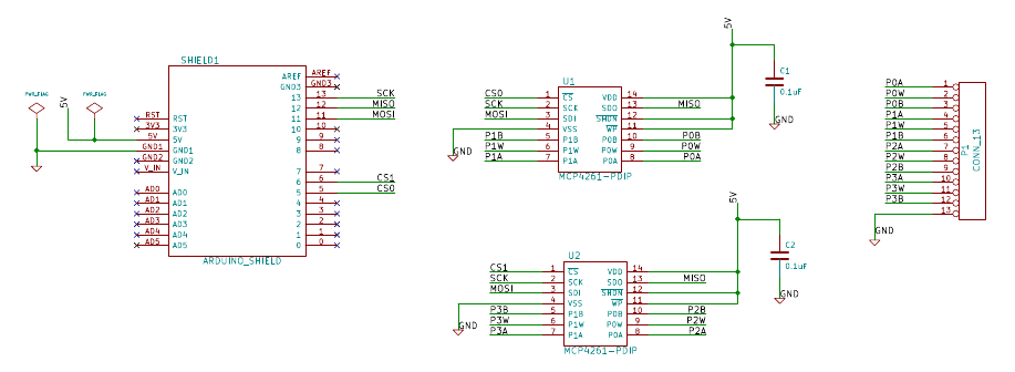 Example Arduino Sketch for MCP4261 Potentiometer Shield? | Forum